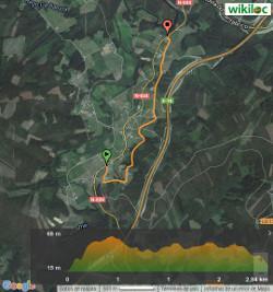 Ruta de San Caetano - Mapa