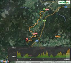Ruta do río Masma - Mapa