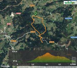 Ruta Fonte Fermosiña - Mapa